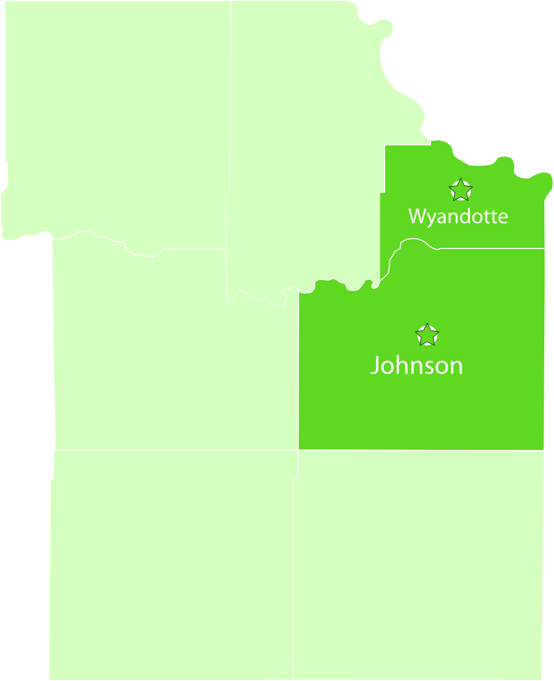 Johnson and Wyandotte County